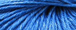 Blue denim-coloured cotton yarn.