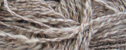 Brown and white linen yarn.